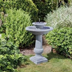 Chapelwood Chatsworth Solar Bird Bath Fountain