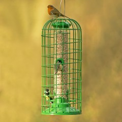 GardenBird Exclusive Premium Seed Feeder with Guardian - Medium