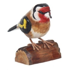 RSPB Hand Crafted Wooden Goldfinch with Display Box