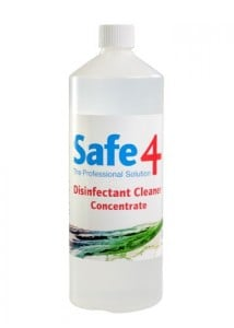 Safe4 Odourless Concentrate Disinfectant Cleaner - 900ml