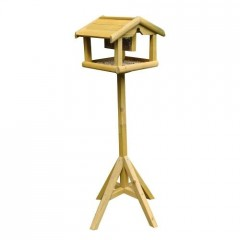 Nature's Market Wooden Bird Table with removable Nut Feeder