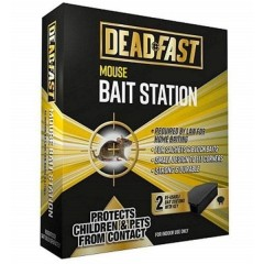 Deadfast Mouse Bait Station - Twin Pack