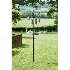 Complete Deluxe Feeding Station with Feeders - Black