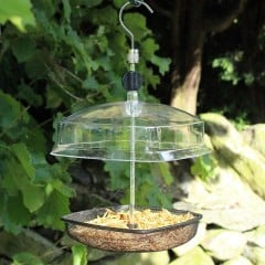 Nature's Market Hanging Mealworm Bird Feeder With Canopy