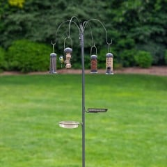 Essentials Four Arm Complete Feeding Station With Bird Bath & Seed Tray - lifestyle