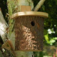 Natural Log Tit Nesting Box