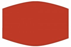 Adult Facemask -  Plain Red