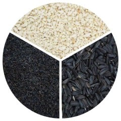 Black Sunflower Seeds, Peanuts Granules and Niger Seed Selection pack